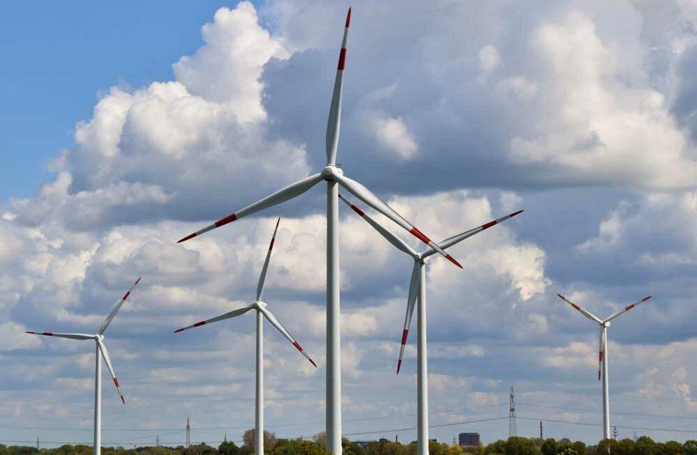 wind turbine for energy industry in landscape